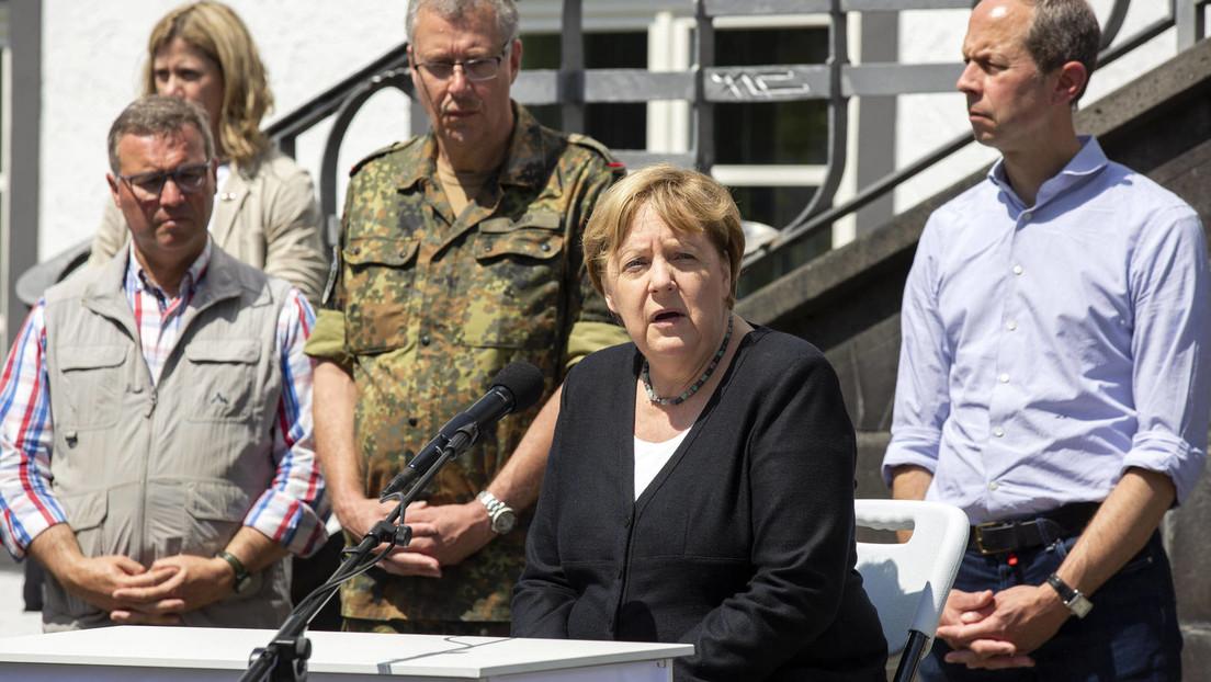 """""""Merkel räumt auf"""" – Deutsche Welle veröffentlicht idealisierende """"Karikatur"""" zum Hochwasser"""