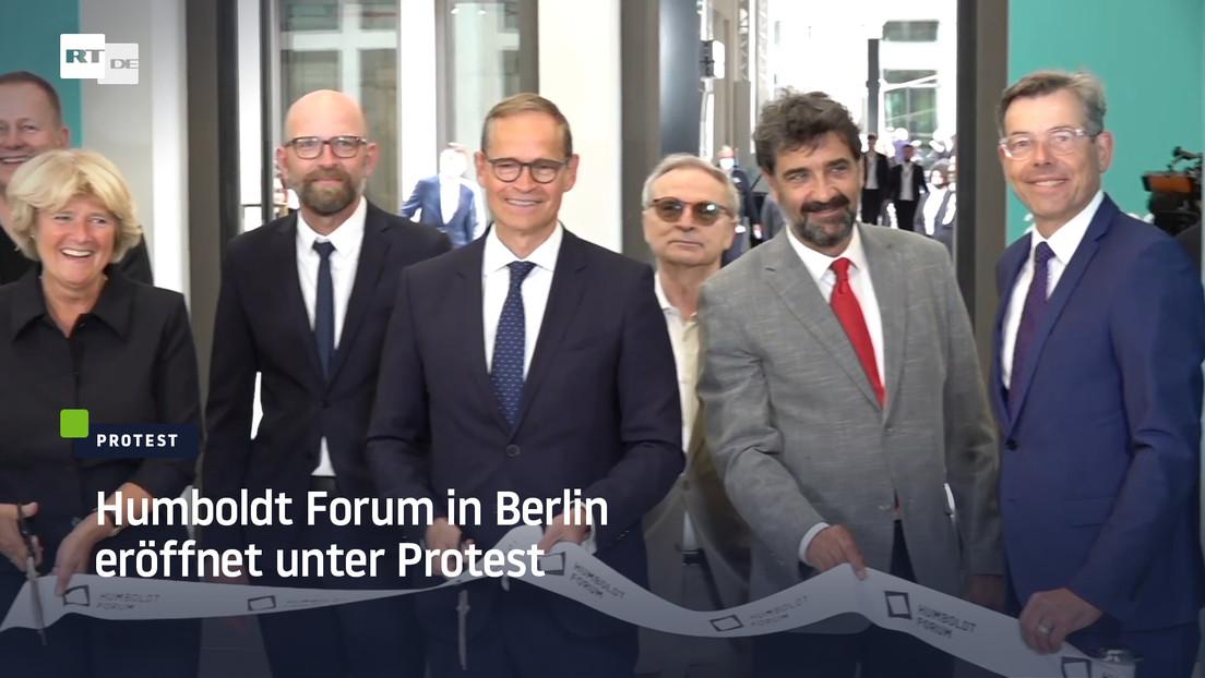Humboldt Forum in Berlin eröffnet unter Protest