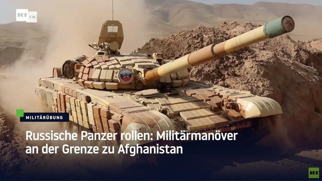 Russische Panzer rollen: Militärmanöver an der Grenze zu Afghanistan