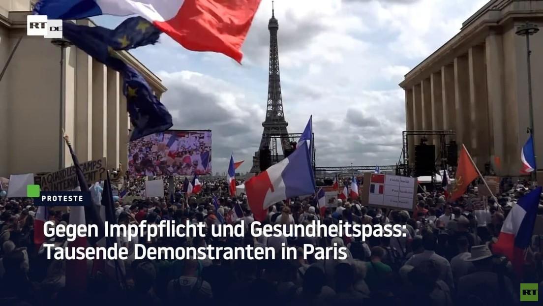 Mehr als 160.000 Franzosen demonstrieren gegen Impfpflicht und Gesundheitspass