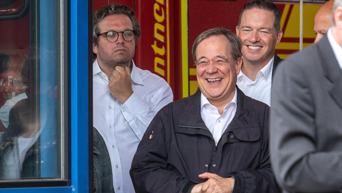 Lachen mit Folgen? Laschet liegt bei Kanzlerfrage hinter Scholz – SPD fast gleichauf mit den Grünen
