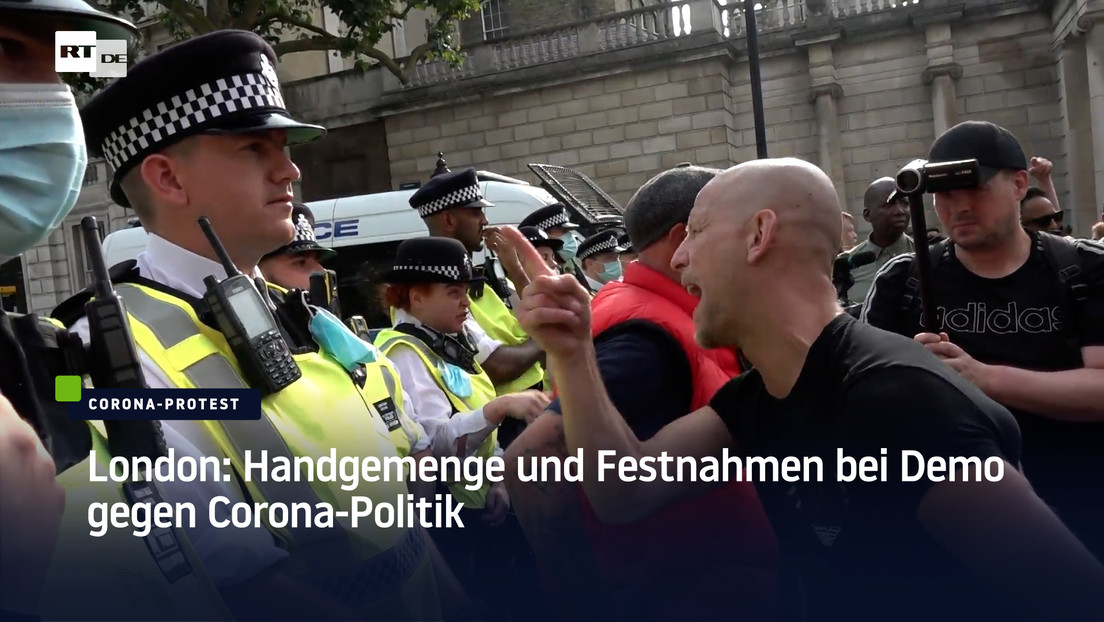 London: Handgemenge und Festnahmen bei Demo gegen Corona-Politik