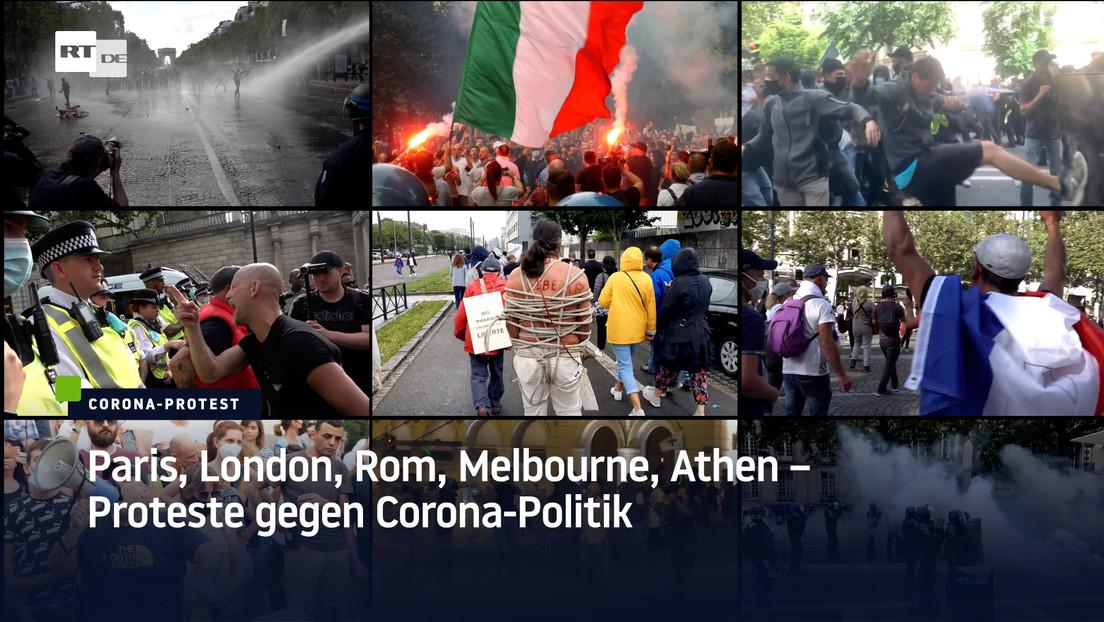 Paris, London, Rom, Melbourne, Athen – Proteste gegen Corona-Politik