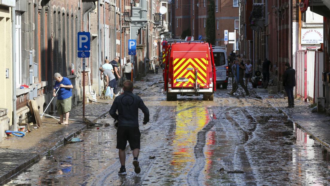 Erneut Unwetter in Belgien: Autos weggespült und Häuser evakuiert