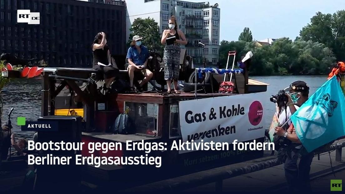 Aktivisten fordern Erdgas-Ausstieg von Berlin