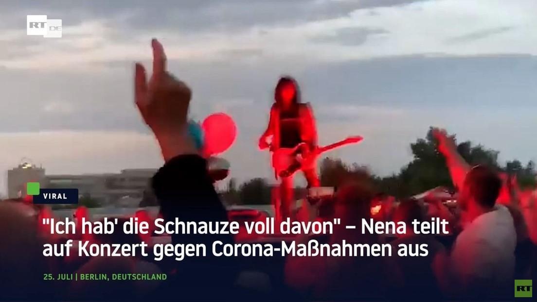 """""""Ich hab' die Schnauze voll davon"""" – Nena teilt auf Konzert gegen Corona-Maßnahmen aus"""