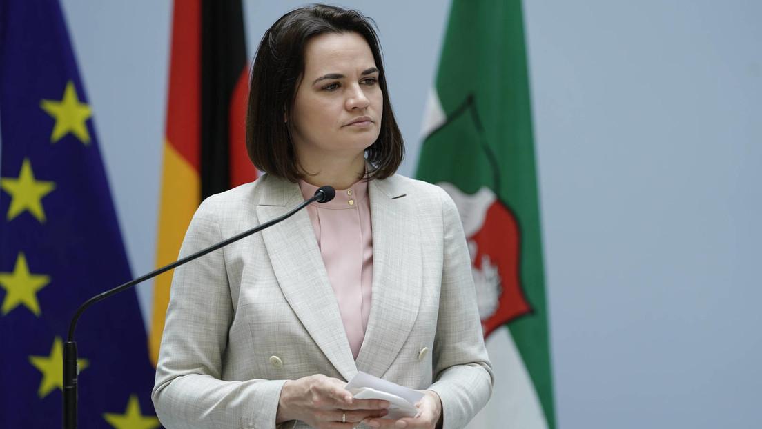 """Sacharowa: Weißrussische Oppositionsaktivistin Tichanowskaja """"von A bis Z"""" vom Westen finanziert"""