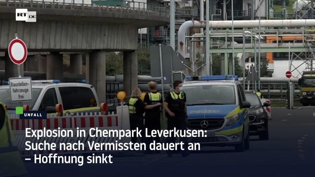 Nach Explosion im Chempark Leverkusen: Suche nach Vermissten dauert an – Hoffnung sinkt