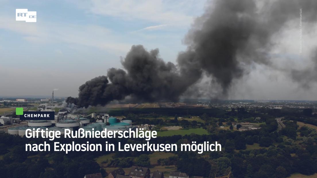 Nach Explosion in Leverkusen: Feuerwehr warnt vor giftigen Rußniederschlägen