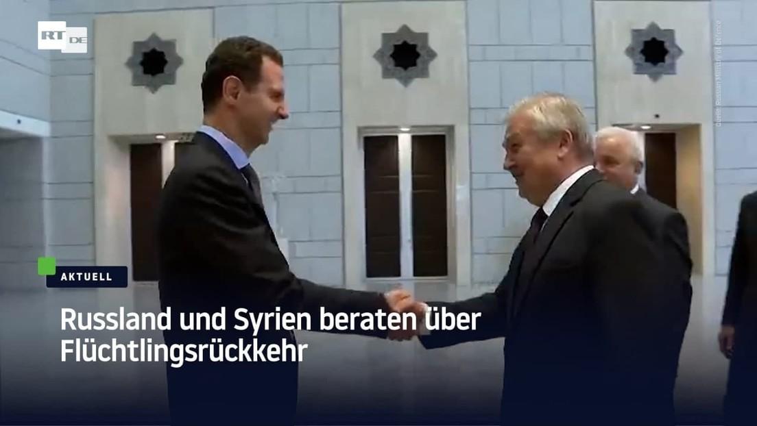 Russland und Syrien beraten über Flüchtlingsrückkehr