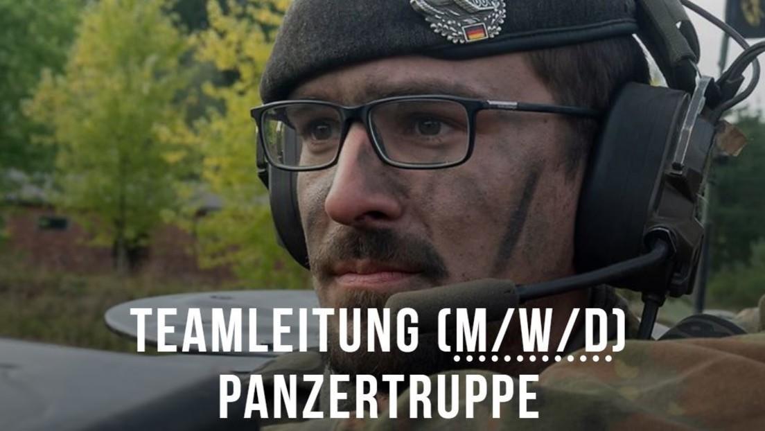 """Bundeswehr: Panzerkommandant heißt jetzt """"Teamleitung (m/w/d) Panzertruppe"""""""