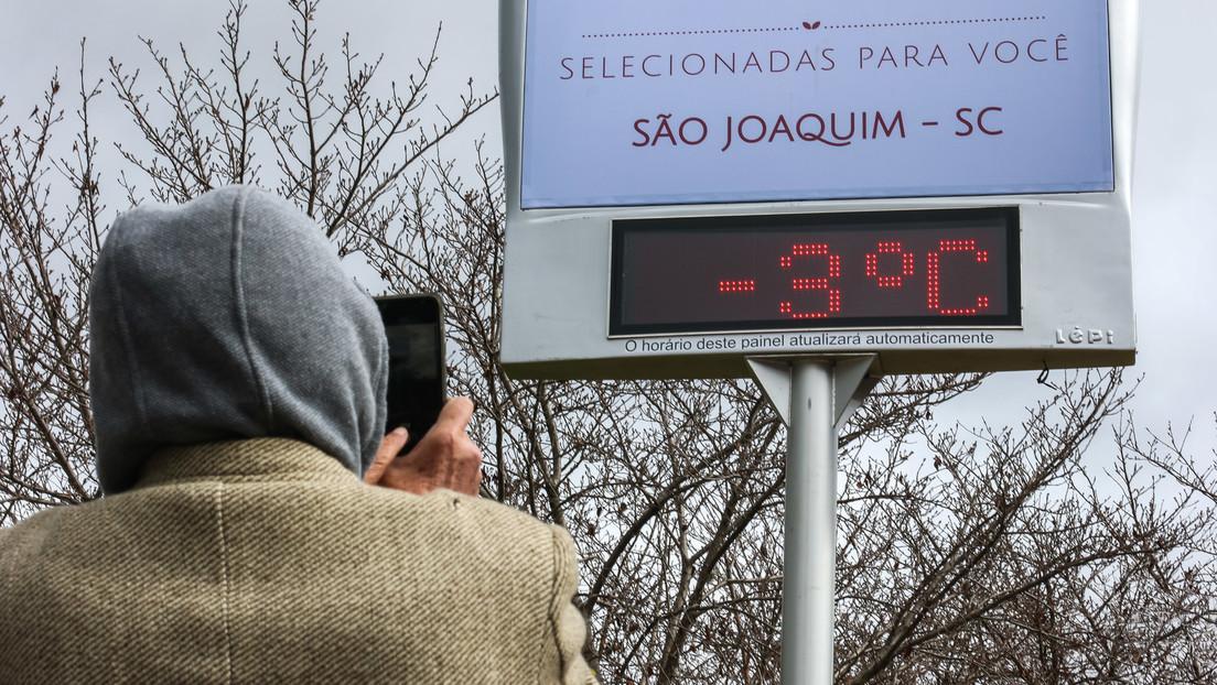 """Schnee in Brasilien: Einwohner posten in sozialen Netzwerken """"magische"""" Fotos und Videos"""