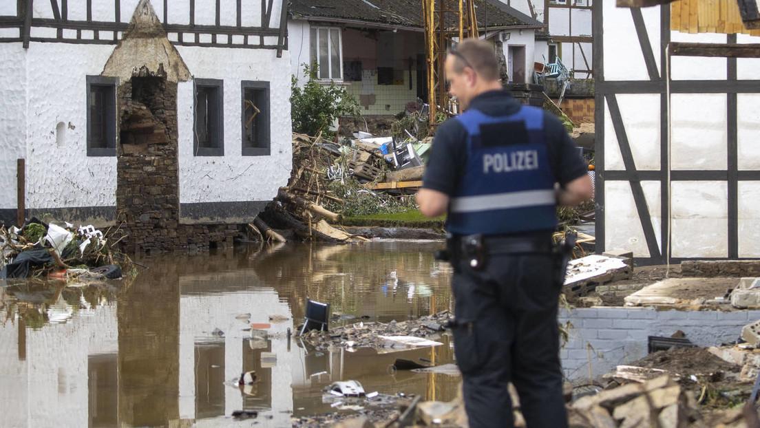Helfer und Polizisten in den Hochwassergebieten vermehrt Ziel von Aggressionen der Anwohner