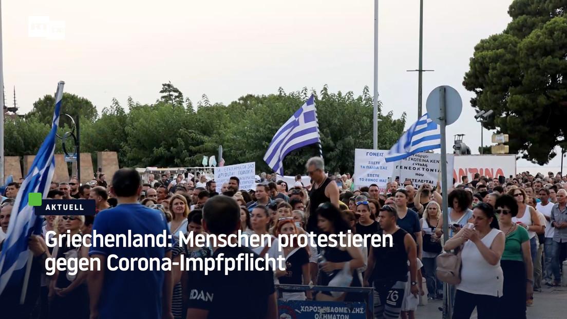 Tausende demonstrieren in Griechenland gegen Corona-Impfpflicht im Gesundheitswesen