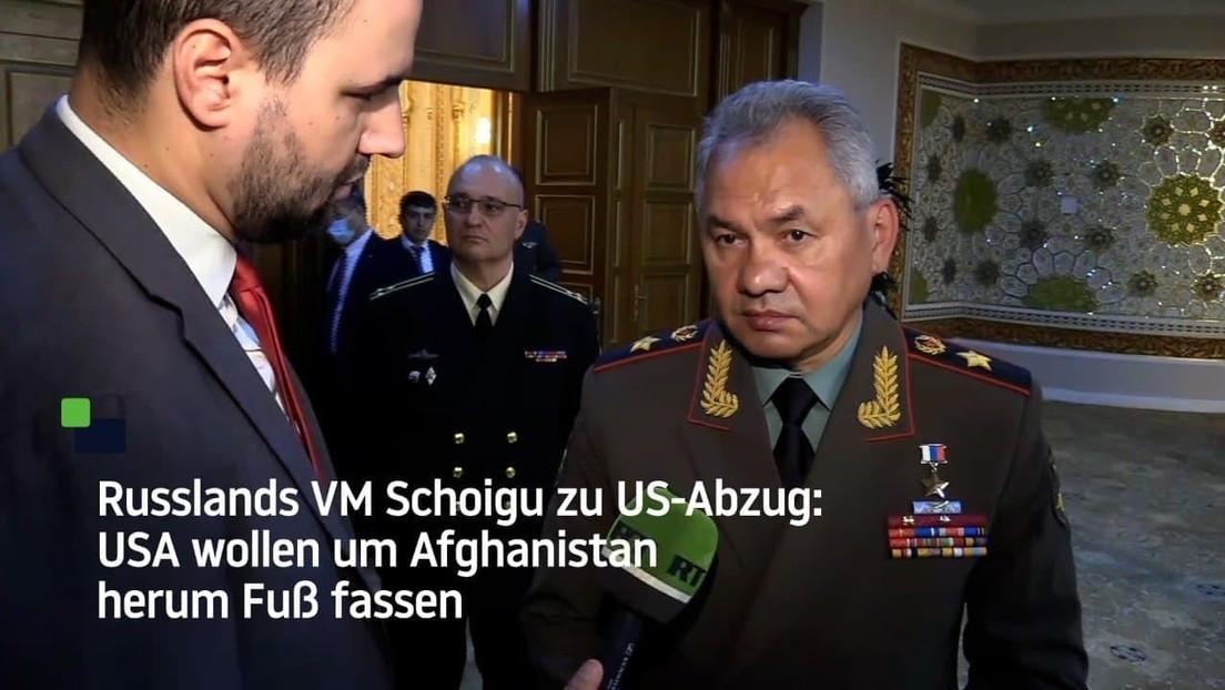 """Schoigu: Die USA wollen Afghanistan aus Zentralasien """"durch den Zaun"""" im Blick behalten"""