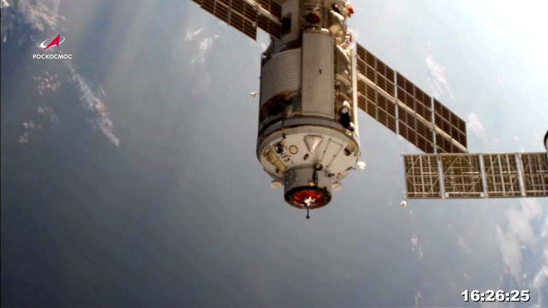 Zwischenfall nach Andocken von russischem Forschungsmodul an Internationale Raumstation ISS