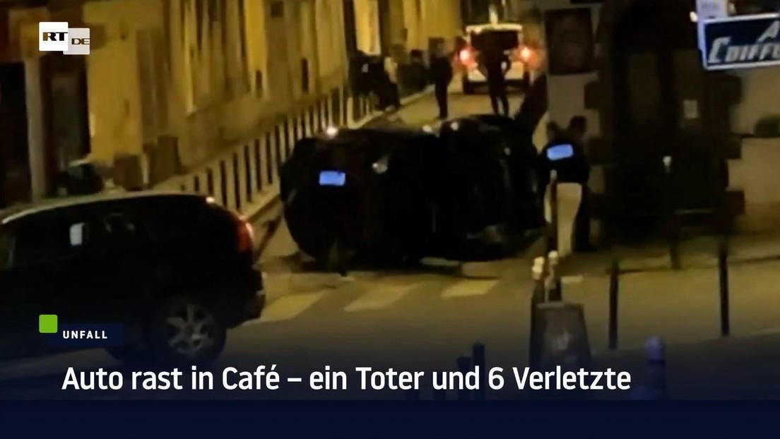 Paris: Auto rast in Café – ein Toter und 6 Verletzte