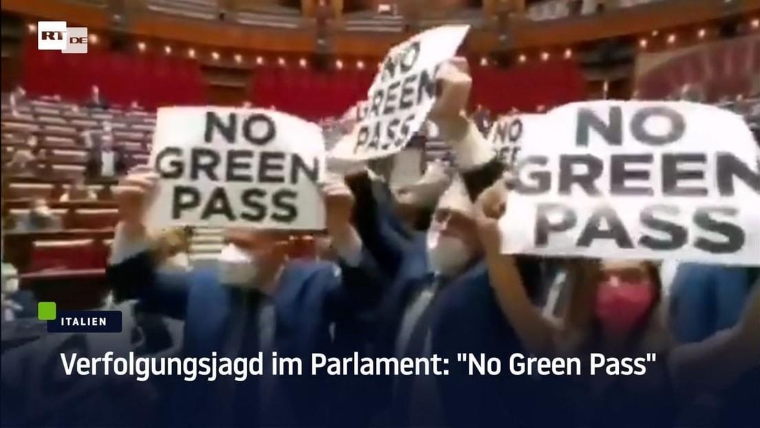 """Rom: Verfolgungsjagd im Parlament nach Protest gegen """"Grünen Pass"""""""