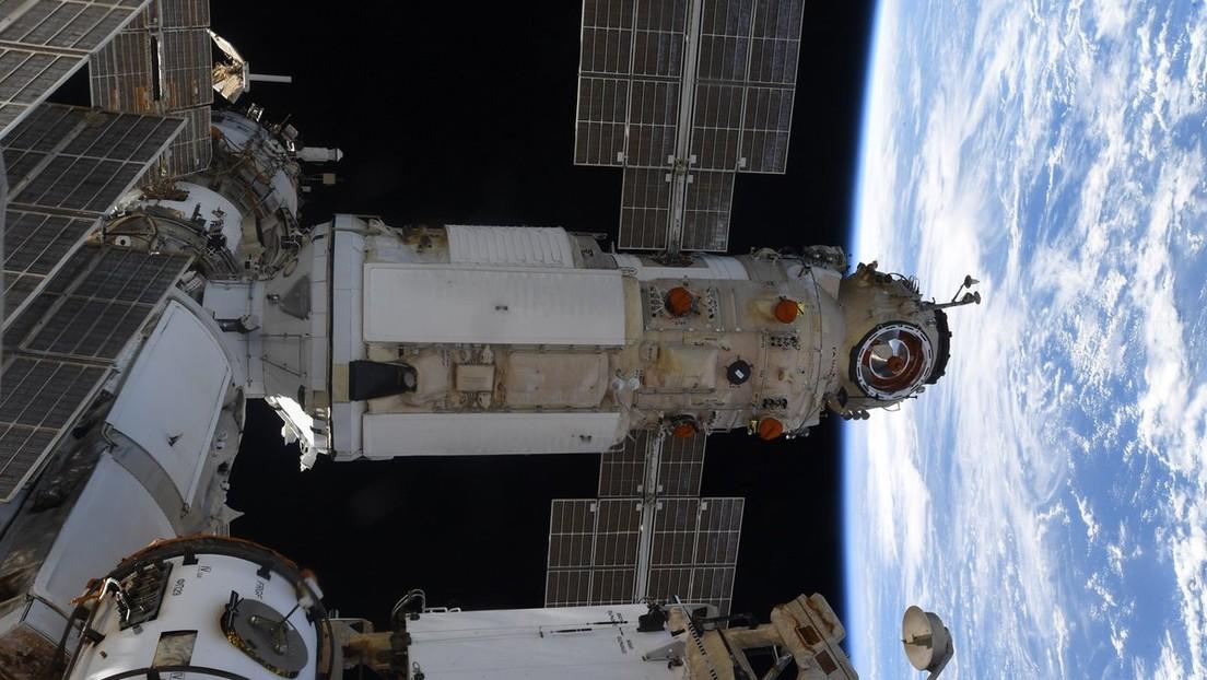 """Russisches Forschungsmodul """"Nauka"""" dockt an die Internationale Raumstation ISS"""