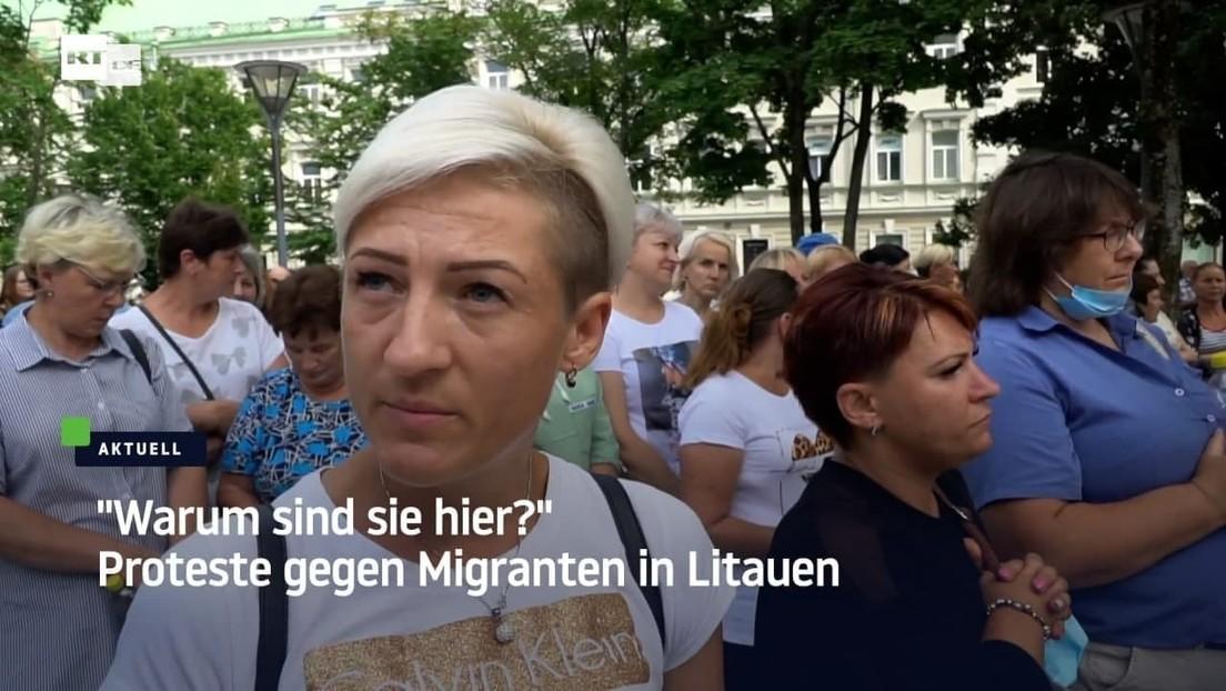 Litauen: Bürger protestieren gegen die Aufnahme illegaler Migranten