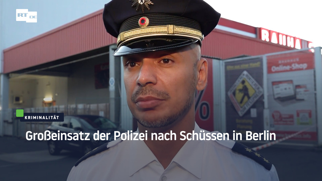Großeinsatz der Polizei nach Schüssen in Berlin