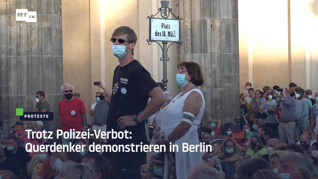 """""""Gen-Spritze, niemals!"""" – Trotz Verbot: Querdenken demonstriert in Berlin"""