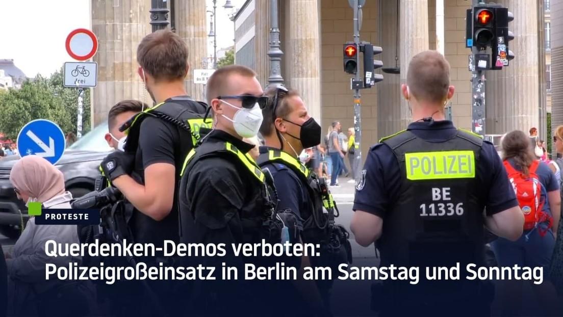 Querdenken-Demos verboten: Polizeigroßeinsatz in Berlin am Samstag und Sonntag