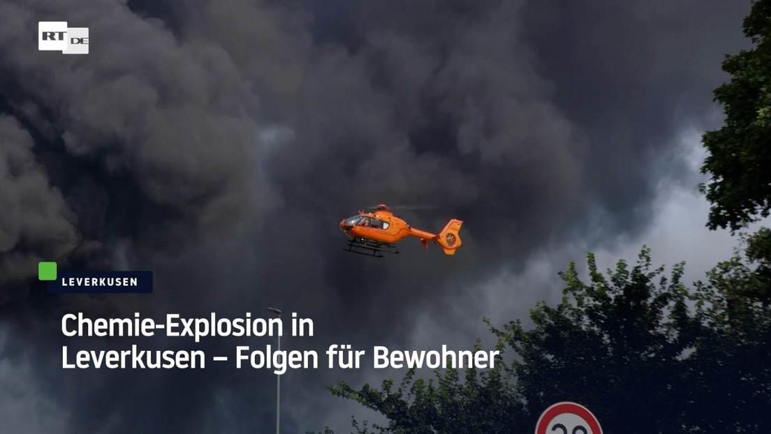 Chemie-Explosion in Leverkusen – Folgen für Bewohner