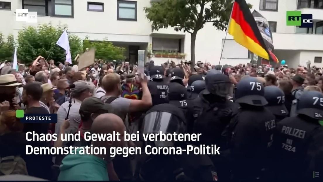 Berlin: Chaos und Gewalt bei verbotener Demonstration gegen Corona-Politik