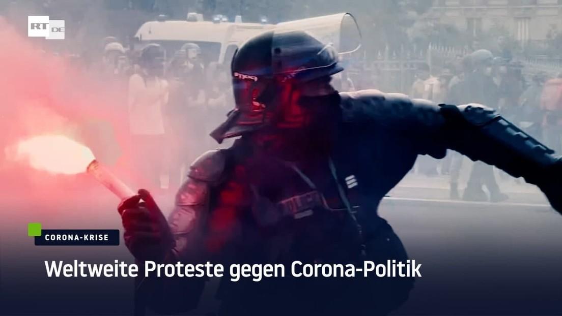 Ein Wochenende der Proteste: Weltweit Tausende Menschen gegen Corona-Politik auf der Straße