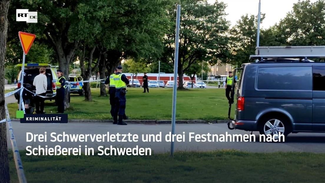 Drei Schwerverletzte und drei Festnahmen nach Schießerei in Schweden