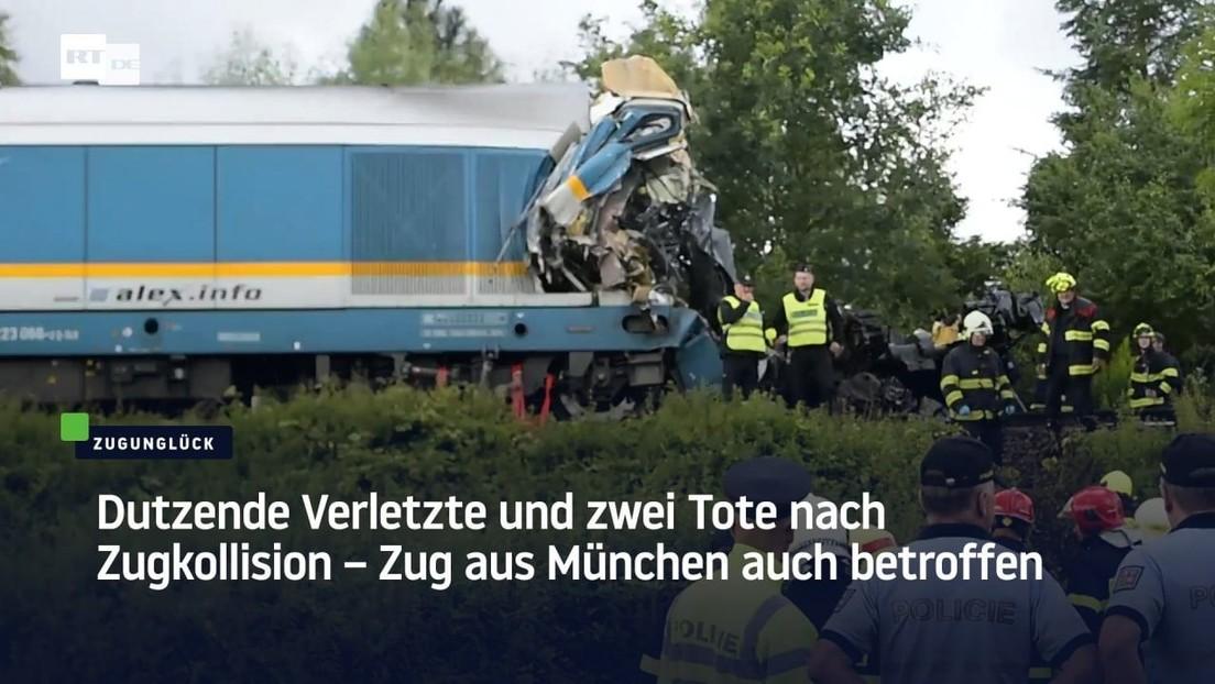 Tschechien: Zug aus München mit Nahverkehrszug kollidiert – Tote und Verletzte