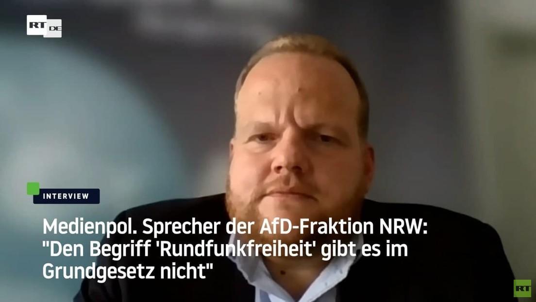 """""""Den Begriff 'Rundfunkfreiheit' gibt es im Grundgesetz nicht"""" – Sprecher der AfD-Fraktion NRW"""