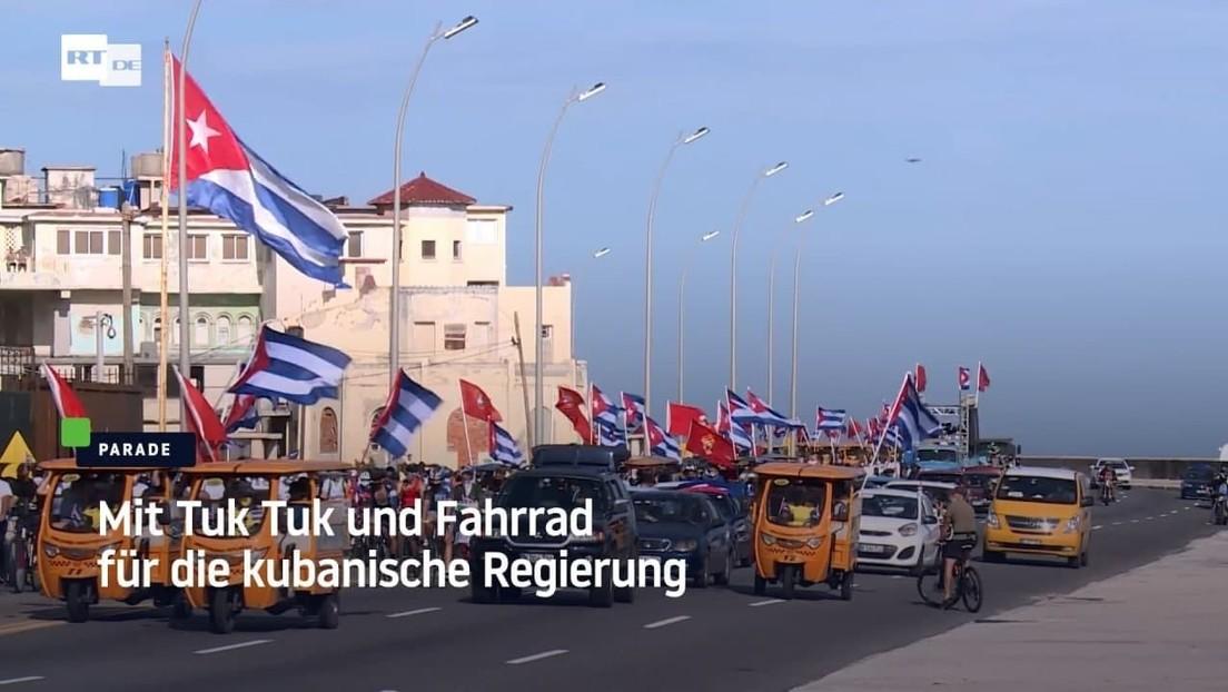 Mit Tuk Tuk und Fahrrad für die kubanische Regierung
