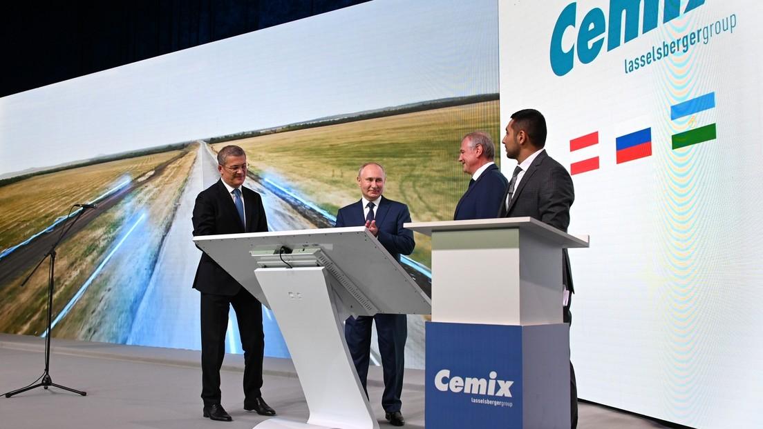 Einweihung von CEMIX-Werk: Putin lobt Zusammenarbeit zwischen Österreich und Russland