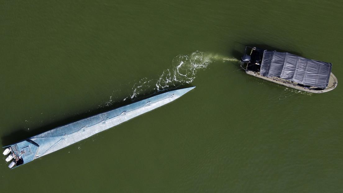 Über zwei Tonnen Kokain in einem U-Boot vor Kolumbien entdeckt