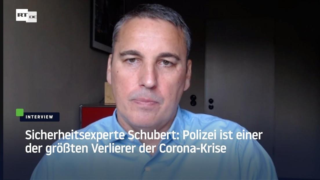 Sicherheitsexperte Schubert: Polizei ist einer der größten Verlierer der Corona-Krise