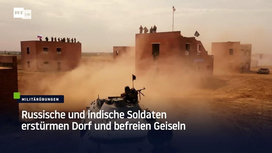 Russische und indische Soldaten erstürmen Dorf und befreien Geiseln