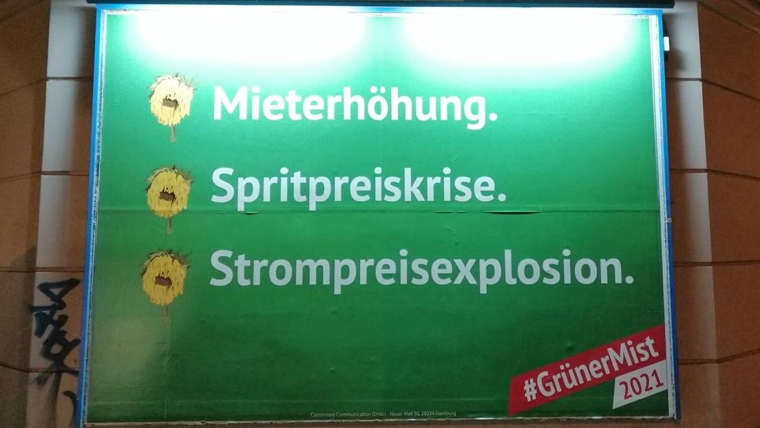 Tausende Anti-Grünen-Plakate in 50 Städten aufgehängt – Grüne und SPD wehren sich mit Hashtags