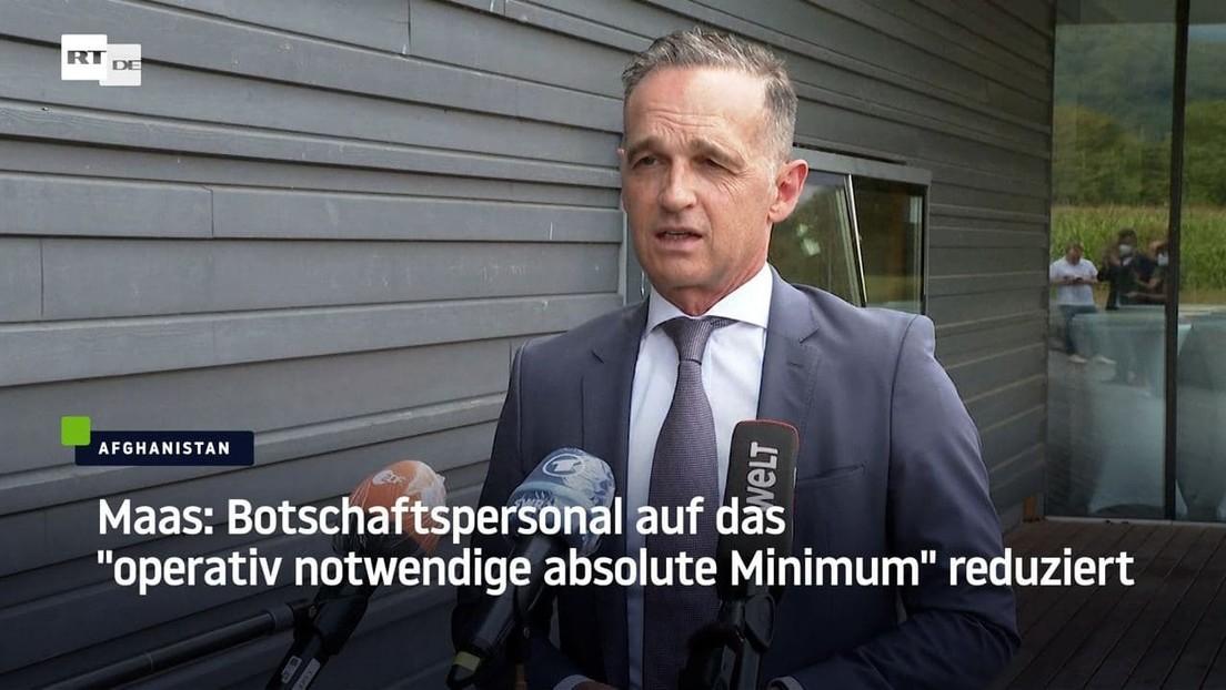 """Maas: Botschaftspersonal auf das """"operativ notwendige absolute Minimum"""" reduziert"""