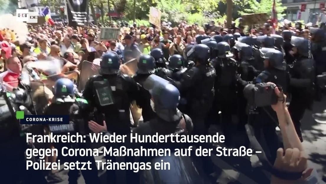 Wieder Hunderttausende gegen Corona-Maßnahmen auf der Straße – Polizei setzt Tränengas ein