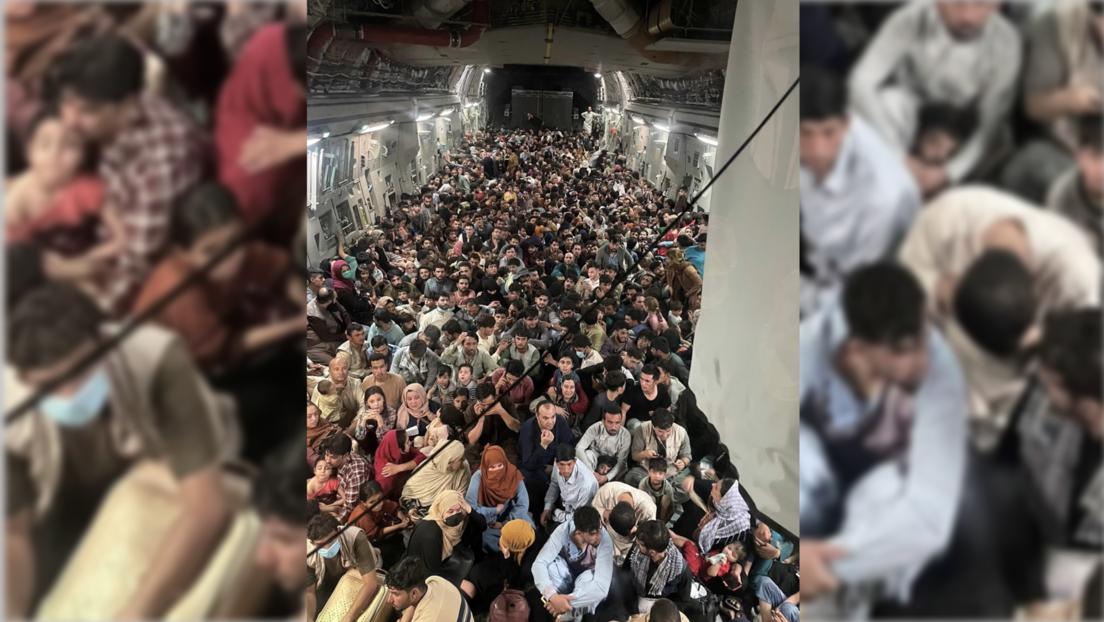 Rettung aus Kabul:  Hunderte Afghanen in US-Transporter, sieben Personen in deutscher Maschine