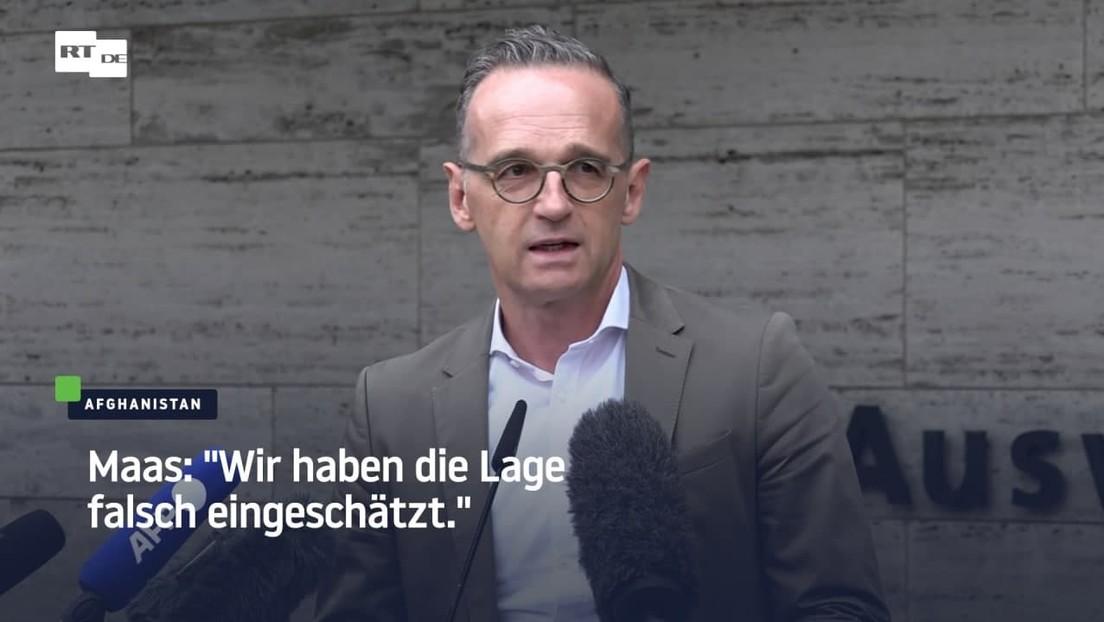"""Maas: """"Wir haben die Lage falsch eingeschätzt"""""""