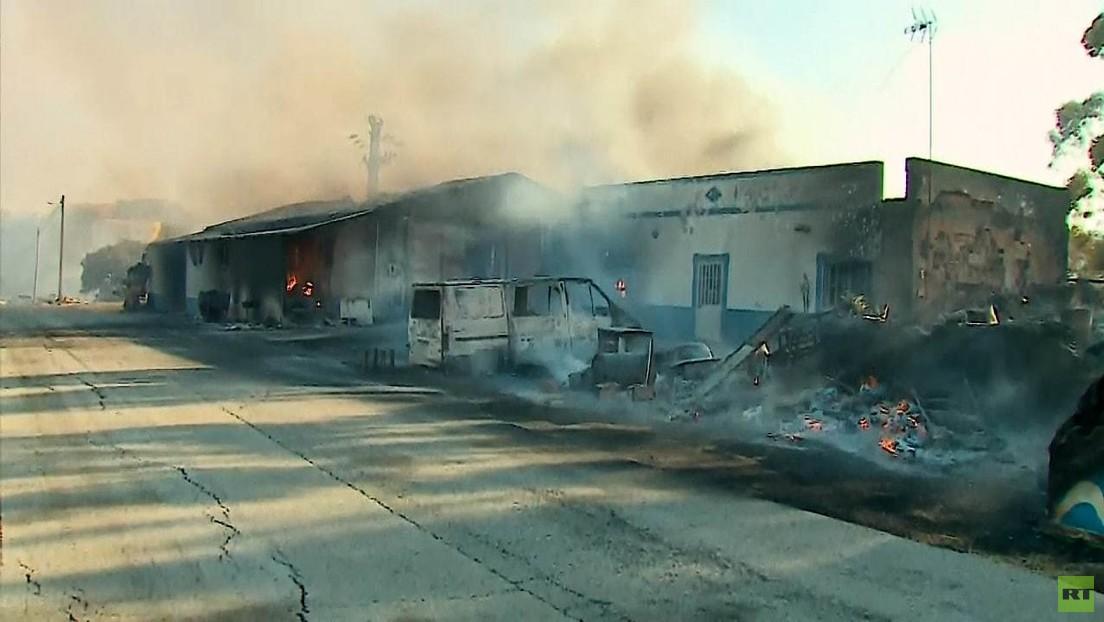 Mittelmeer-Waldbrände nun auch in Portugal: Evakuierte Dörfer, verbrannte Häuser