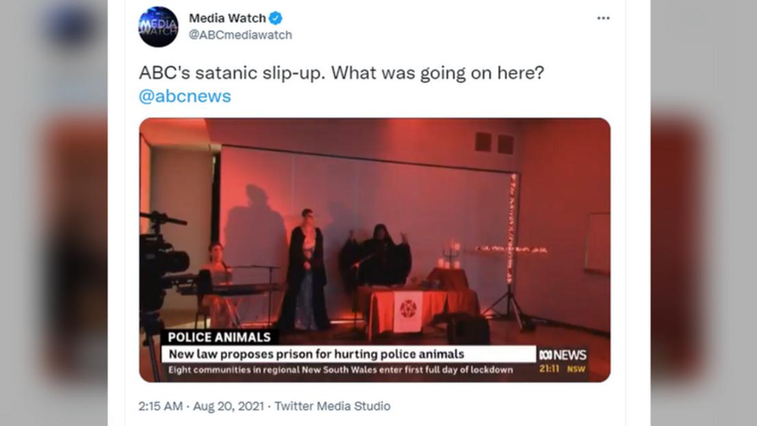 Australische Nachrichtensendung durch Teufelsanbetungszeremonie unterbrochen