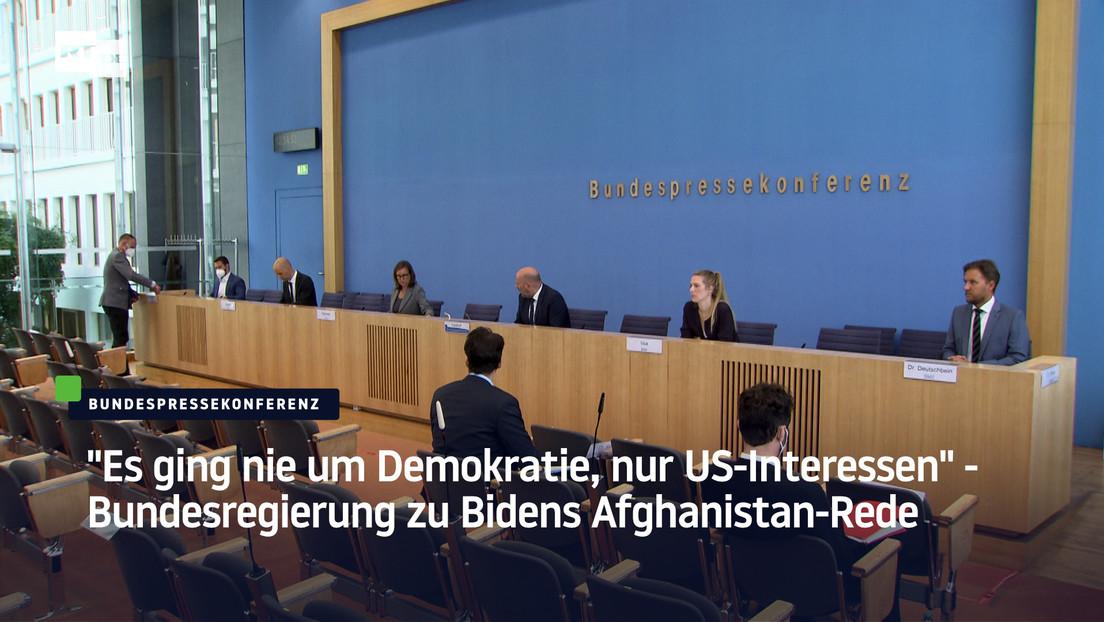 """""""Es ging nie um Demokratie, nur US-Interessen"""" – Bundesregierung zu Bidens Afghanistan-Rede"""