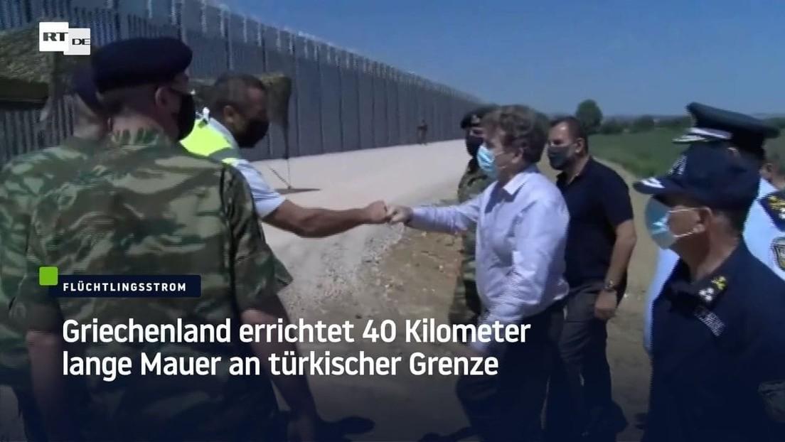 Griechenland errichtet 40 Kilometer lange Mauer an türkischer Grenze