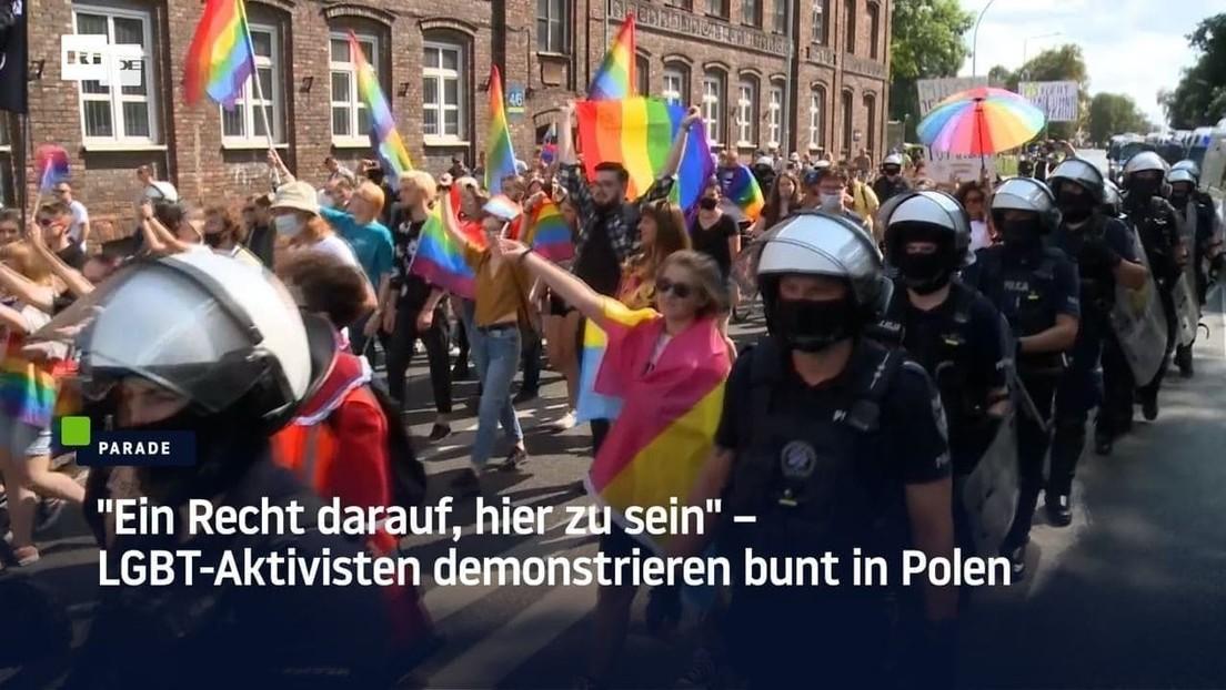 """""""Ein Recht darauf, hier zu sein"""" – LGBT-Aktivisten demonstrieren bunt in Polen"""