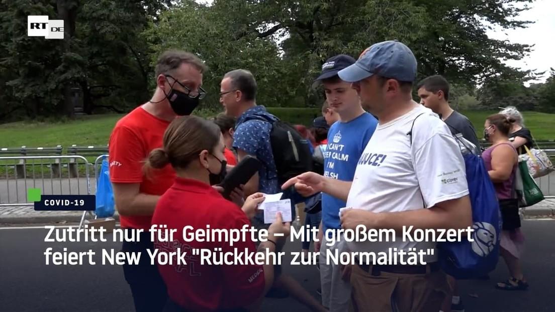 """Zutritt nur für Geimpfte – Mit großem Konzert feiert New York """"Rückkehr zur Normalität"""""""