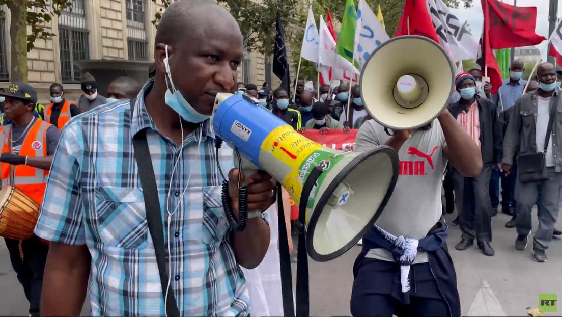 Paris: Protest für Rechte illegaler Migranten